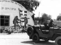A Greek HQ in Cyprus Taken Over by Turkish Troops