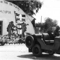 A Greek HQ in Cyprus Taken Over by Turkish Troops