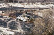 Destroyed Greek Tank
