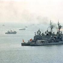 Turkish Fleet Sailing Towards Cyprus