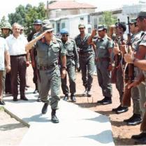 Nurettin Ersin and Rauf Denktas Greeting Turkish Soldiers
