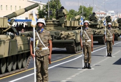 CYPRUS-INDEPENDENCE-DEFENCE-PARADE