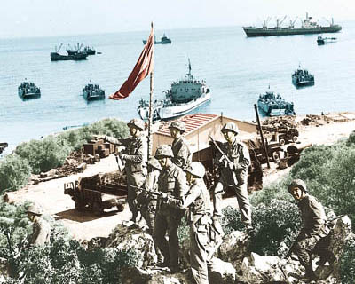 landing of turkish troops