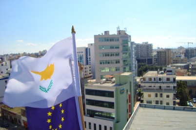 Cyprus_European_Union_Presidency_flags_at_top_of_Nicosia_Building